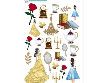 Belle (Beauty and the Beast) Stickers - Disney Planner Stickers