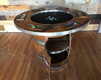 Wine Barrel Poker Table