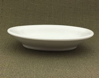 Vintage White Oval Dish, Antique Soap Dish, Shenango China, New Castle, E. Pa, Vintage Soap Dish, Ironstone Soap Dish