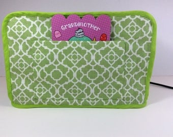 Toaster Cover (green with pocket)