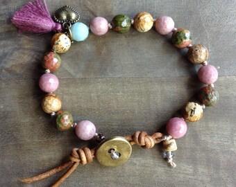 Bohemian bracelet hippie bracelet hippie jewelry womens jewelry bohemian rustic bracelet rustic jewelry gypsy bracelet hippie bracelets