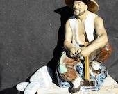 Mudman with Hammer - Chinese Figurine