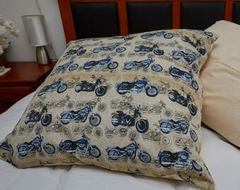 "Cruiser Motorcycles Cushion Covers | 61cm x 61cm (24"" x 24"") European Cushion Cover 