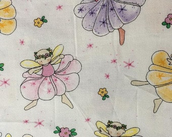 OOP Byrce & Madeline pastel tooth fairy fairies little girls dressup i spy patchwork Quilting cotton, quilt fabric by the yard, 100% cotton
