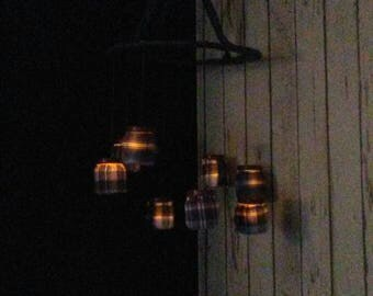 Rustic plaid hanging lantern