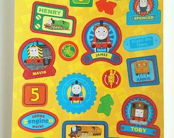 Thomas the Train Semi-glossy paper stickers - 1 sheet - 24 Stickers