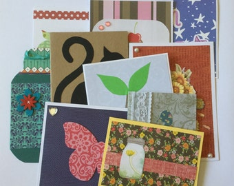 Variety card pack, handmade greeting cards, set of 10, any occasion cards