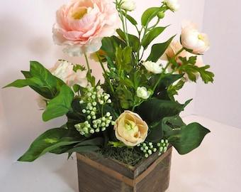 Spring Floral Arrangement, Spring Centerpiece, Spring Flower Arrangements, Easter Floral Arrangement, Easter Centerpiece, Mother's Day Gift