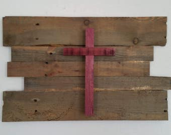 Pallet wood Cross