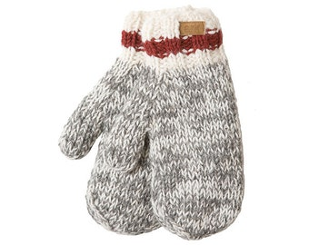 Cabin Mittens, gloves, mitts, hand warmers, wool, fleece lined, hand knit