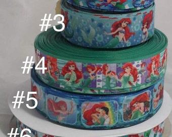 Mermaid Grosgrain Ribbon, Hairbow Ribbon,