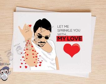 Funny Valentine's Day Card #SaltBae, FunnyLove Card, BFF Card, Funny Valentine, BFF Card, Funny Love Card for Girlfriend Boyfriend