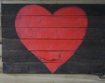 Reclaimed Pallet Wood Heart sign