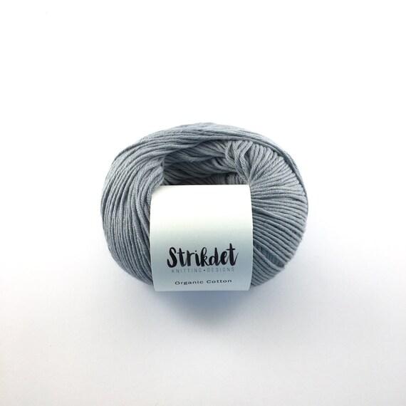 STRIKDET Organic Cotton dusty grey-blue / Økologisk Bomuld - støvet gråblå