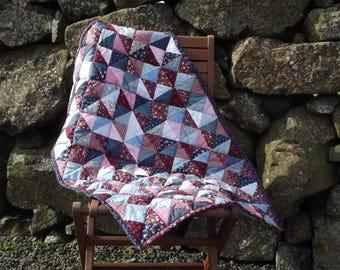 Handmade Patchwork Cot Quilt