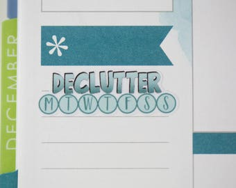 36 Declutter Daily Habit Stickers  | Planner Stickers designed for use with the Erin Condren Life Planner | 0686