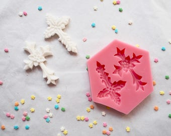 Fancy Cross Silicone Mould (Mold), Cake decorating, Cakes, Cookies, Cupcakes, Baptism, Christening, Baby shower, Wedding