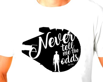 Star Wars Han Solo Millenium Falcon Inspired Never tell me the odds Tshirt