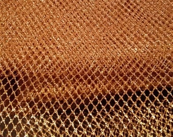 Gold Metallic Tulle Netting Dress Fabric 150cm Wide