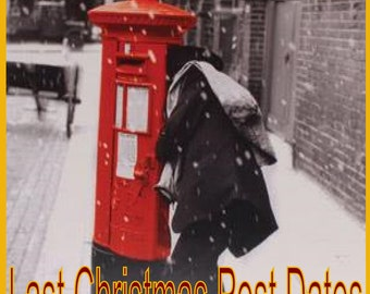 Christmas 2016 Post, Last Christmas Posting Dates 2016 - Information only