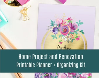 Home improvement project planner printable