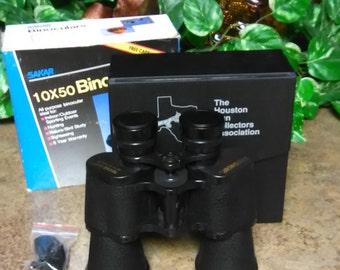 Vintage Sakar Binoculars 10 x 50 Binoculars and Carrying Case