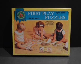 Vintage 1969 Child Guidance First Play Puzzles On The Move