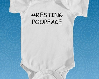 Funny Baby Onesie Resting Poopface Baby Clothes Funny Baby Outfit New Baby Gift Baby Shower Gift Funny Onesie Funny Baby Clothes Baby Gift