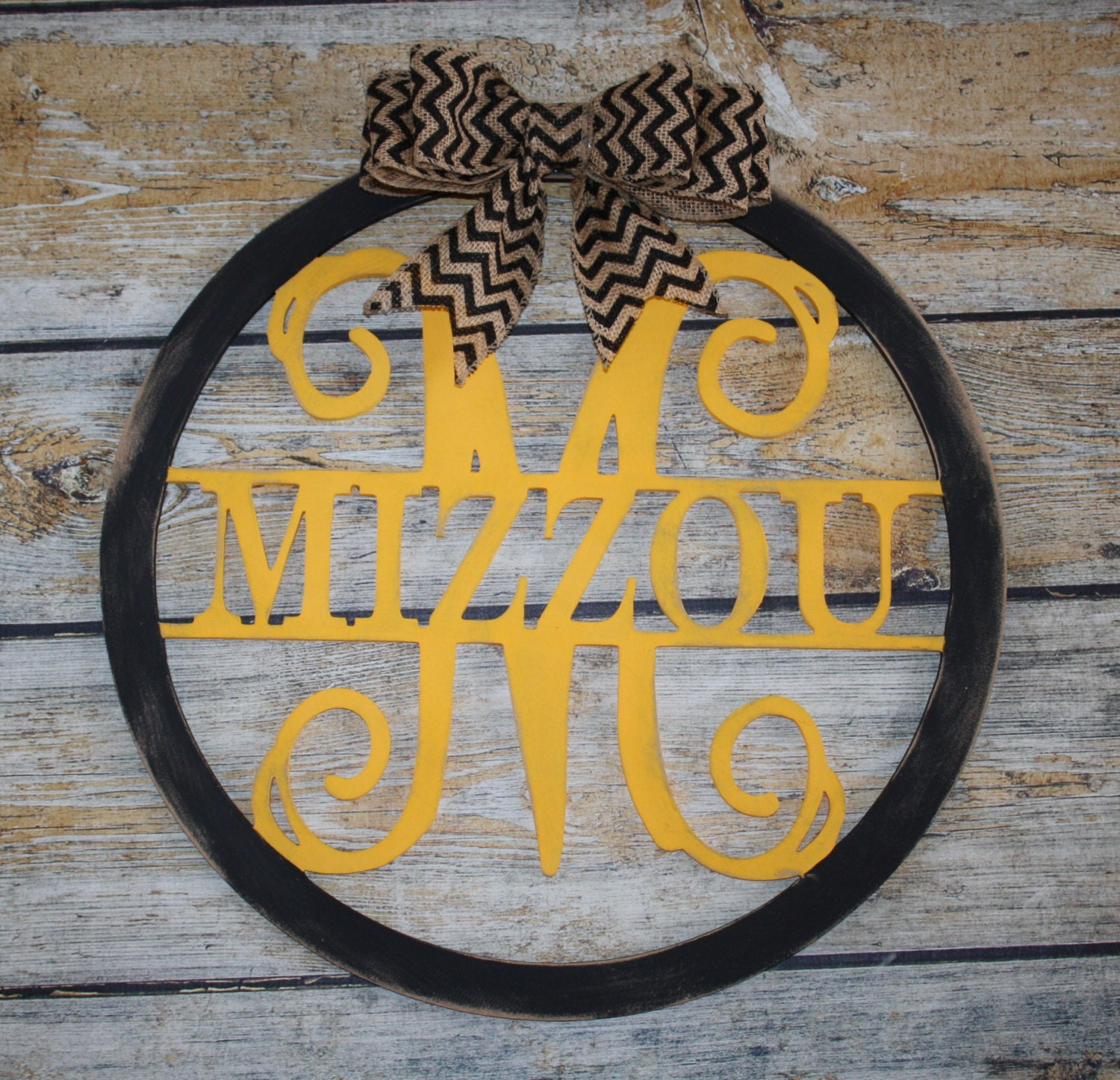Wood Circle Initial and Name Door Hanging/Wall Decor-Personalized ...