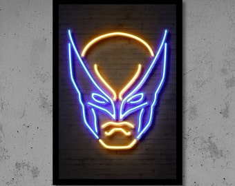 Superhero Neon Wall Lights : Wolverine wall art Etsy