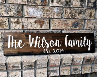Personalized Family Name Sign | Family Established Sign | Name Sign | Established Name Sign | Custom Name sign | personalized wedding gifts