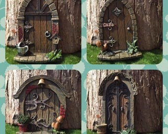 Miniature fairy garden door, miniature door, fairy garden accessories, fairy supplies, mini stepping stones, gnome door