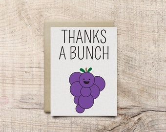 Thanks a Bunch Greeting Card Digital Download