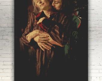 "Only Lovers Left Alive - CANVAS - 12x8"" - artwork print on cotton canvas - alternative movie poster horror Jim Jarmusch Tom Hiddleston"