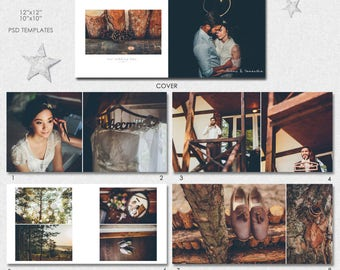 PSD 10X10, 12x12 (40 pages), Wedding  Album template, (Classic Layout),  21 spread  and a cover - AL6