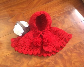 Newborn Little Red Riding Hood Outfit