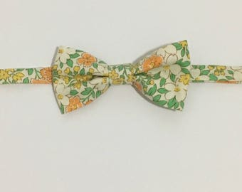 Green, Orange Floral Bow Tie