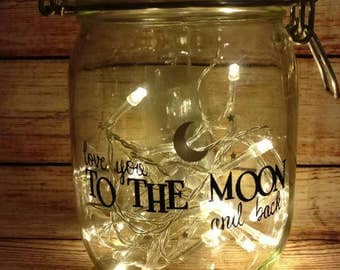 Children's Nursery Light Up Jar