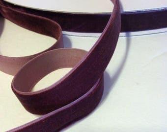 """Burgundy velvet ribbon 5/8"""". 90 cents or less. 1, 3, 5 yard"""