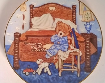 "Vintage Decorative Wall Plate""Bedtime Blues"" by Michael Hague"