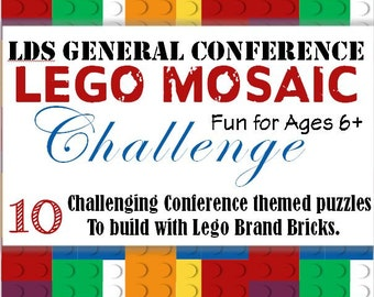 LDS General Conference Lego Mosaic Challenge