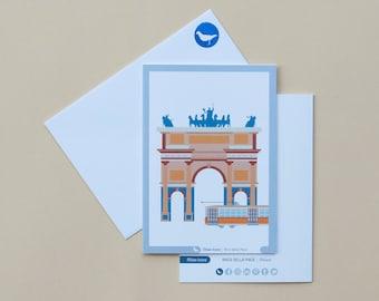 Milan Icons Greeting Cards-Arco della Pace-Milan