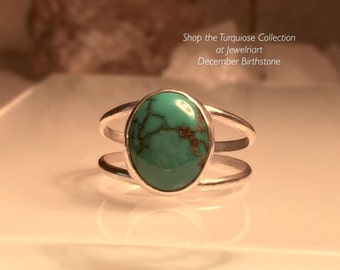 Turquoise Ring/ Handmade Turquoise Ring/Double Turquoise Ring//Free Shipping in the US