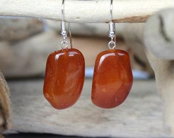 Natural Shape Amber Earrings, Sterling Silver Clasp, Natural Baltic Amber, Brown Amber Earrings, Amber Jewelry, Earrings, Dangle earrings
