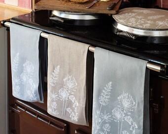 Linen Tea Towel, Tea Cloth, Glass Cloth from The Garden Collection