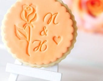 Rose - romance - fondant stamps / cookie stamp