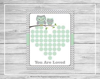 Owl Baby Shower Guest Book - Printable Baby Shower Guest Book - Green Owl Baby Shower - Baby Shower Guest Book - Owl Guest Book - SP137