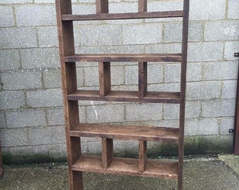 Industrial Up-Cycled Pigeon Hole Shelving Unit
