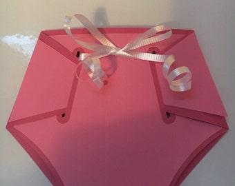Baby Diaper 3D Cardstock Invitation