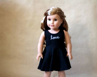 "Princess Seam Knit Dress 18"" Doll Clothes"